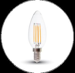 žárovka E14 filament